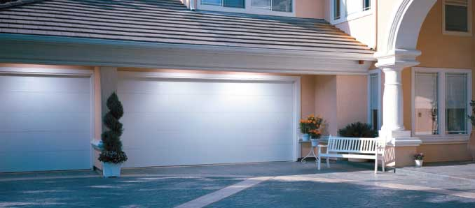 Flush panel garage doors by overhead doors for Flush panel wood garage door