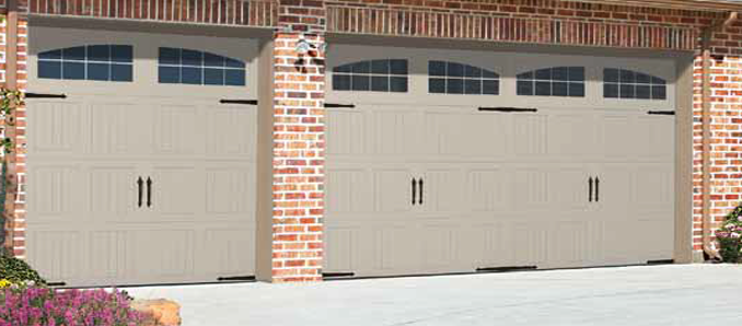 Desert Tan Garage Door