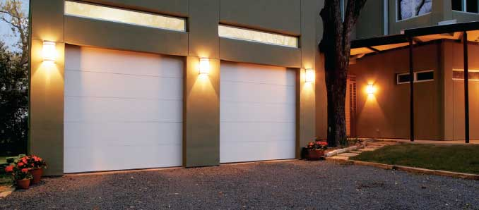 High Quality Flush Panel Garage Doors